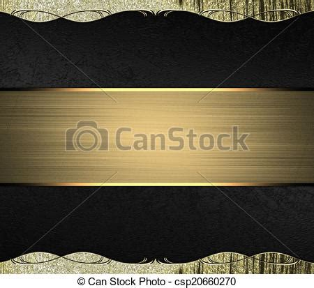 Abstract Black Ribbon Black Background Design by Abstract Black Background With Gold Edges With Gold Trim