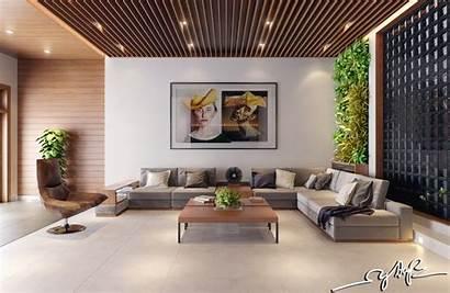 Indoor Interior Rich Nature Vertical Gardens Wood