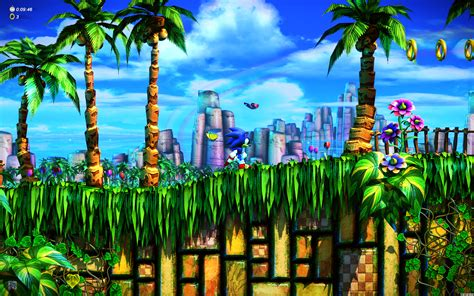 sonic fan remix emerald hill zone  hd wallpaper gamephd