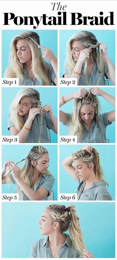 Hairstyles Braid Diy Hair Ponytail Braided Glamour