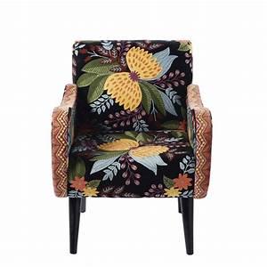 Fauteuil En Velours : fauteuil en velours noir brod dario maisons du monde ~ Dode.kayakingforconservation.com Idées de Décoration