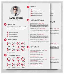 Best professional resume templates psd ai word free for Resume portfolio