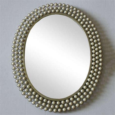 dunelm cream pearl effect wall mirror home accesories