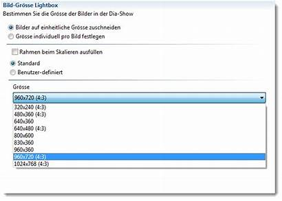Bildergalerie Benutzer Definiert Groesse Lightbox Weblica Hilfe