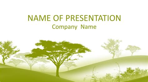 trees powerpoint template templateswisecom