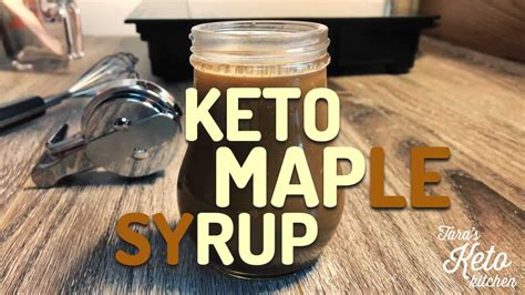 carb keto maple syrup easy   doubles   fat