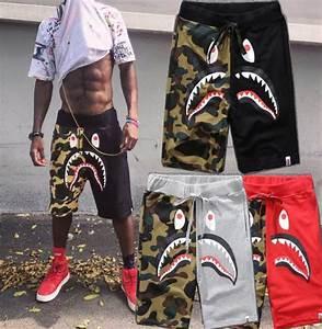 Menu0026#39;s Shorts Pants A Bathing Ape Costumes Camo Shark Bape Sport Trousers Outfits | eBay