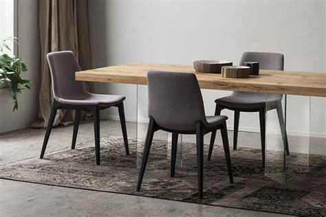sedia sala da pranzo sedia imbottita con gambe in legno napol arredamenti