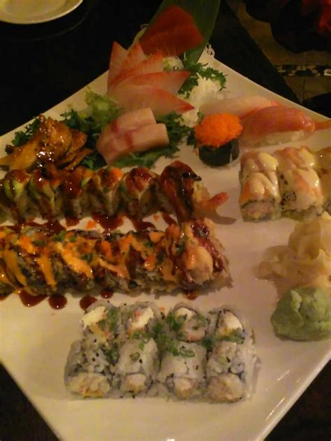 ichiban cuisine our sashimi pieces and the honeybee godzilla and