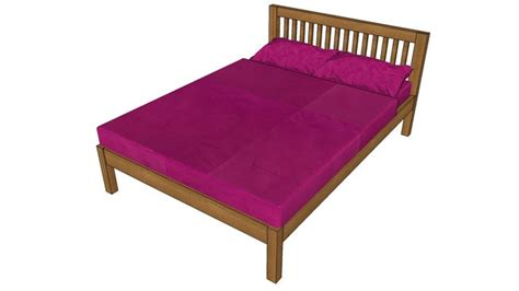 sketchup components  warehouse double bed sketchup