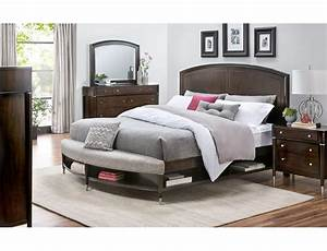 slumberland broyhill vibe collection 4pc cherry qn With bedroom furniture sets slumberland