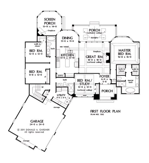 open floor house plans one one house plans with split master and open concept