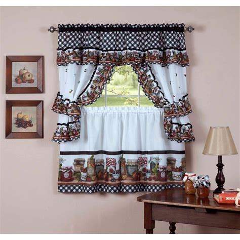 Kitchen Window Curtains Walmart by Breathtaking Kitchen Curtains At Walmart Images Designs