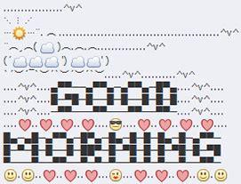 good morning text art text art emoji text art good