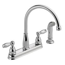 home depot delta kitchen faucets delta foundations 2 handle kitchen faucet chrome