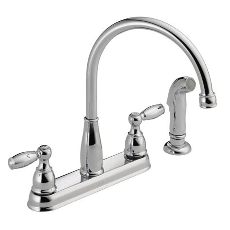 two handle kitchen faucets delta foundations 2 handle standard kitchen faucet with