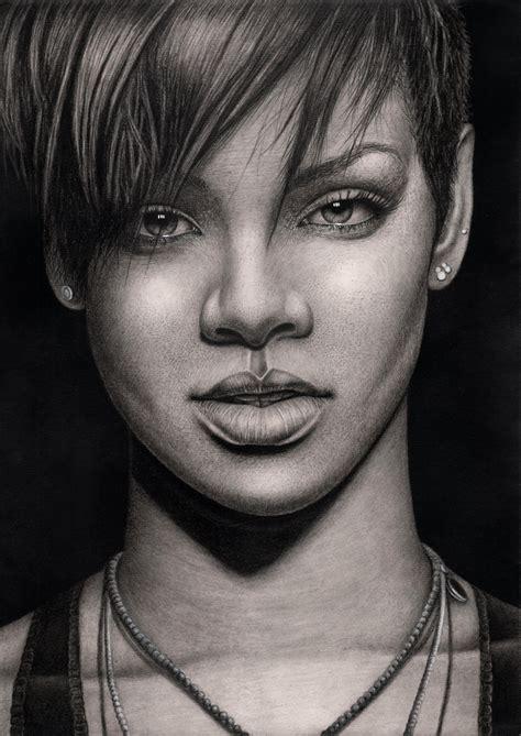 'rihanna' Graphite Drawing By Pentacularartist On Deviantart