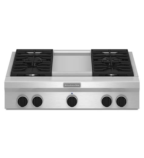 gas stove tops with griddle kitchenaid 36 quot 4 burner griddle common style cooktop master technicians ltd