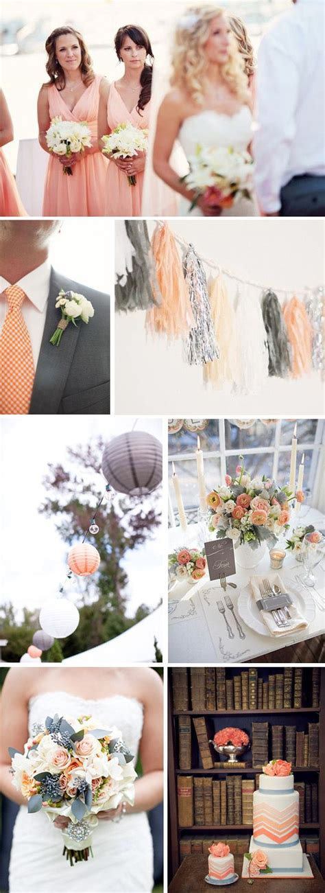 25 Best Ideas About Grey Peach Wedding On Pinterest