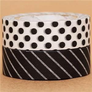 Washi Tape Schwarz : schwarz wei punkte streifen mt washi tape klebeband 2er set klebeband sets klebeb nder ~ Eleganceandgraceweddings.com Haus und Dekorationen