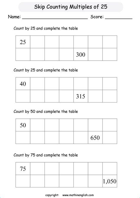 skip count  multiples   addition  counting