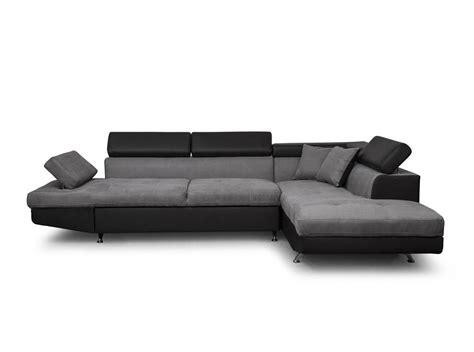 canapé d angle gris et noir canapé d 39 angle droit convertible avec coffre noir gris