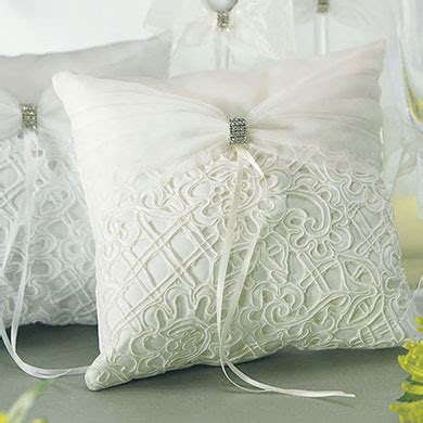bridal tapestry square ring pillow the knot shop