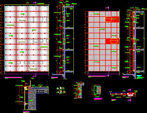 curtain wall details  autocad cad   kb