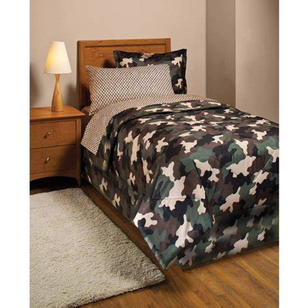 37366 camo bed set camouflage bed in a bag bedding set walmart