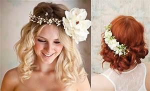 Couronne De Fleurs Cheveux Mariage : coiffure mariage avec fleur coiffure maquillage mariage arnoult coiffure ~ Farleysfitness.com Idées de Décoration