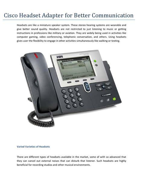 Cisco Ip Phone 7961 Headset