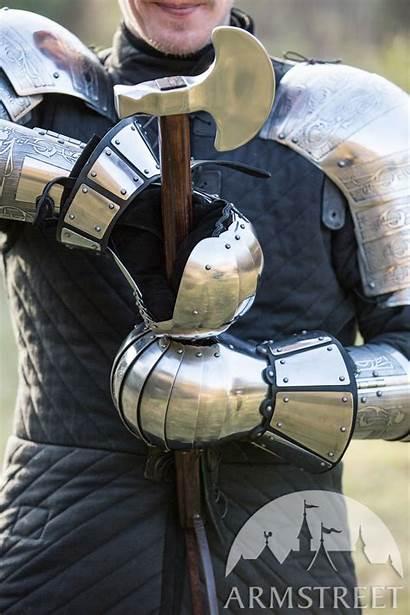 Armor Reenactment Medieval Gauntlets Armstreet Leather
