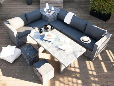 canapé delamaison canapé de jardin droit ou d 39 angle de 2 à 6 personnes