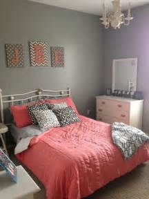 gray and coral bedroom bedrooms pinterest big