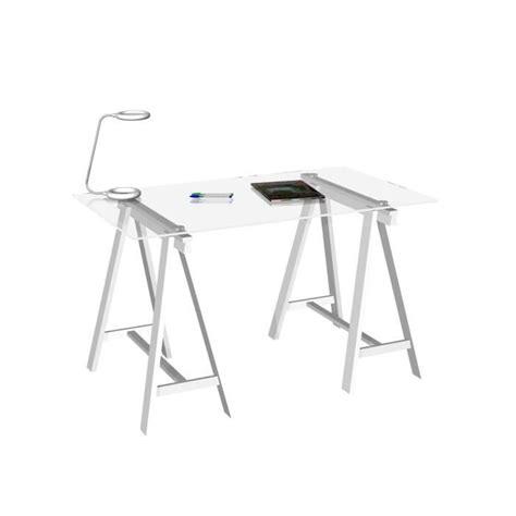 plateau en verre pour bureau bureau treteau pas cher