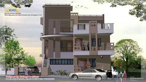 Modern 1- Story House Small 3 Story House Plans, Three
