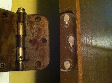 how to fix stripped in wood how to repair stripped screw holes for a door hinge door hinges