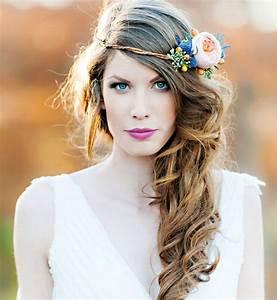 Couronne Fleur Cheveux Mariage : coiffure mariage fleur ma coupe de cheveux ~ Melissatoandfro.com Idées de Décoration