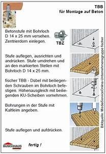 Holzstufen Auf Beton : fischer treppenstufen befestigung tb tbb ~ Michelbontemps.com Haus und Dekorationen