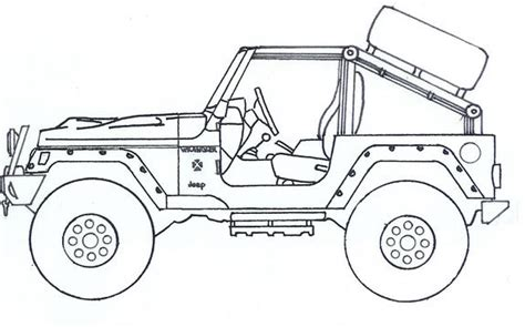 4 door jeep drawing jeep wrangler coloring pages another highrollintj 2