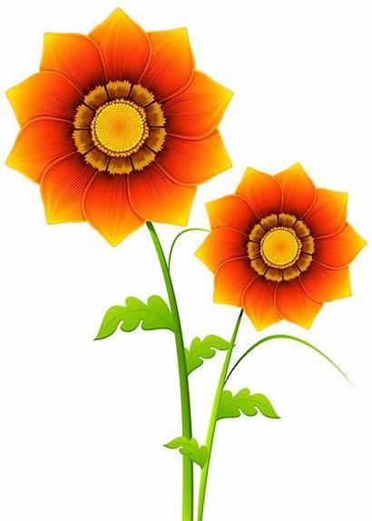 Transparent Clipart Flowers Flower Clip Cliparts Orange