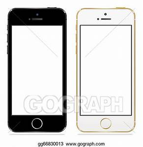 Vector Art - Apple iphone 5s black and white. Clipart ...