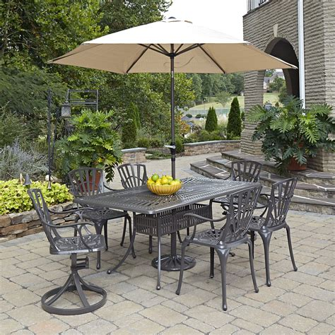 largo taupe 71 75 x 42 25 inch 7 outdoor dining set
