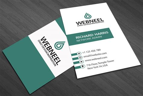 simple business card template   freedownload
