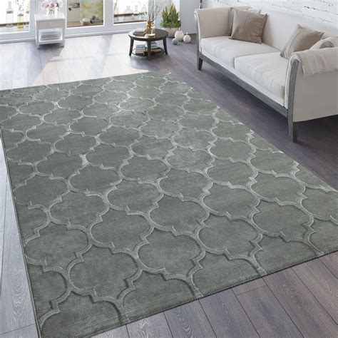 teppich in grau teppich 3 d effekt marokkanisches muster grau teppich de