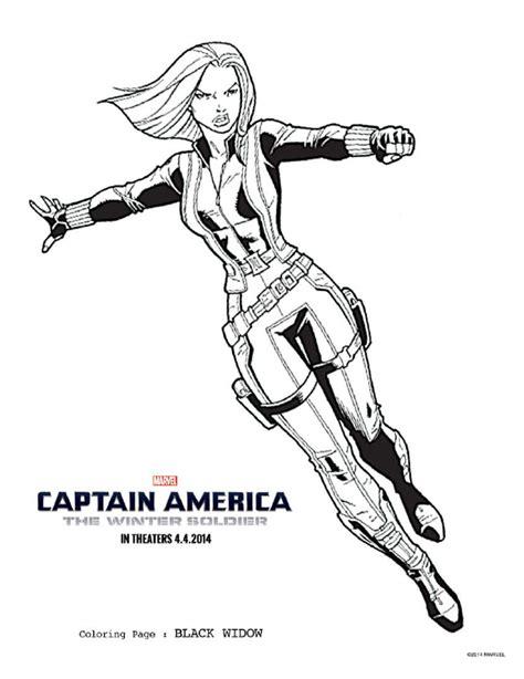 Black Widow Coloring Page - #CaptainAmericaEvent # ...