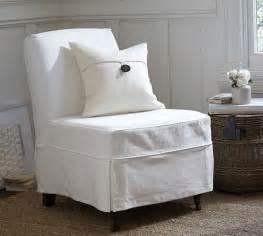 maxton slipcovered slipper chair denim warm white pottery