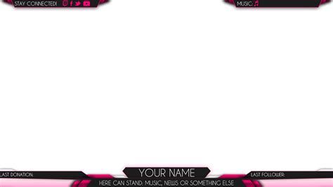 twitch overlay template girls girls stream overlays pictures to pin on pinterest thepinsta