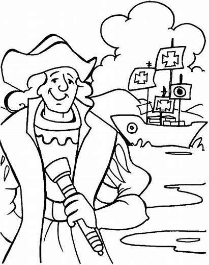 Columbus Coloring Pages Christopher Santa Maria Pinta