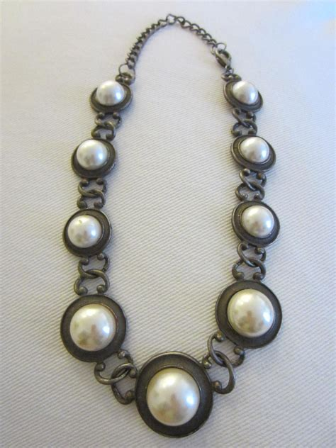 vintage deco jewelry for sale deco choker necklace pearl cabochons for sale antiques classifieds
